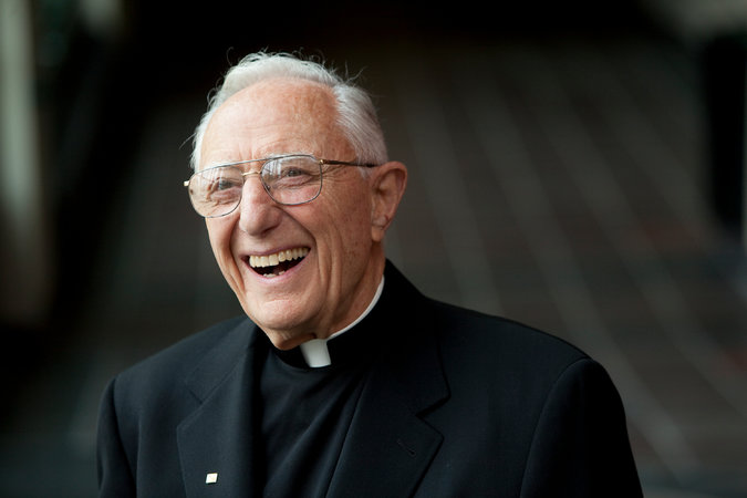 Fr. John LoSchiavo has died, the longtime faculty member, administrator and president of the University of San Francisco. He was best known nationally for shutting down the school's basketball program after a series of scandals. The Dons had won two national college basketball championships in the 1950s, remarkable for a small school, and had returned to national prominence 20 years later, when recruiting violations and illegal payments to players kept popping up in headlines. Fr. Lo didn't wait for the sport's governing body to act; he pulled the plug himself, suspending the team for three years and limiting recruiting to nearby states. A native of San Francisco, he was an all-city player himself in high school, but he would not have his Catholic college's ethics and reputation besmirched. (University photo)