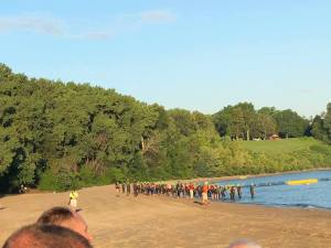 USA Triath championships Swim start on Lake Erie